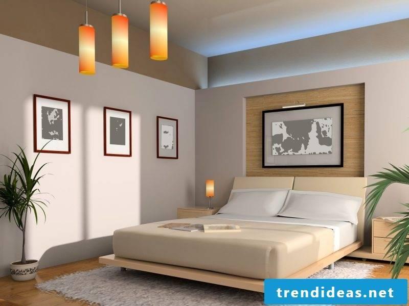 Bedroom in Feng Shui style