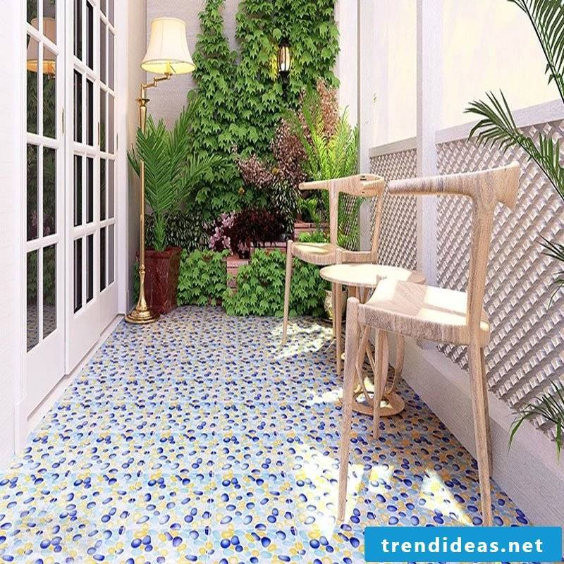 Balcony flooring provides a homely atmosphere