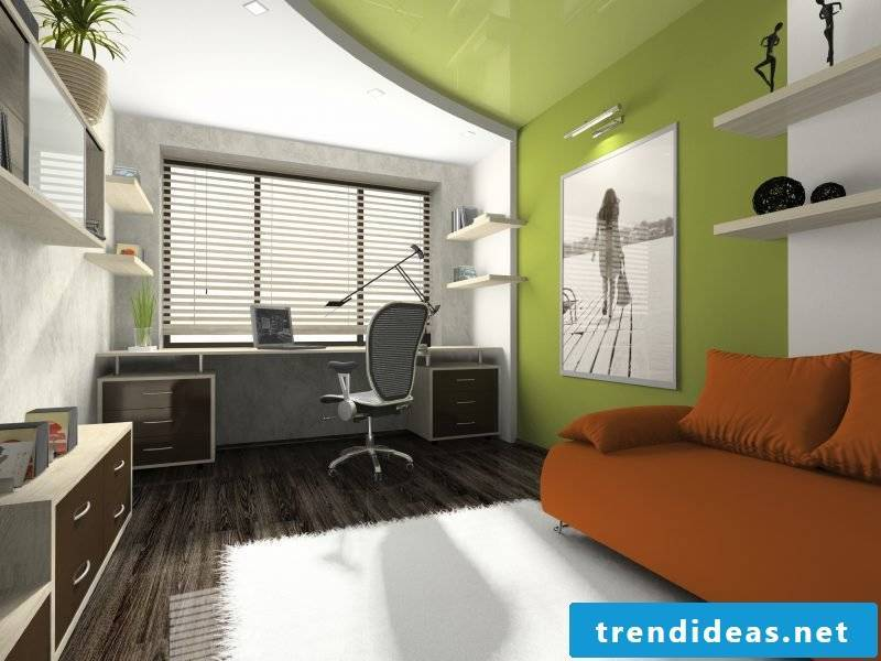Youth room furnished in modern style