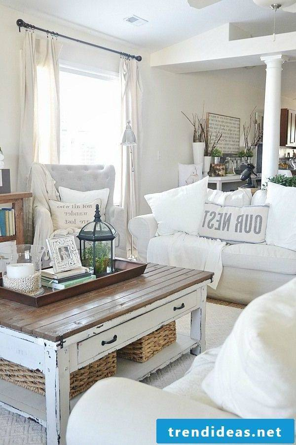 Classic white sofa in white for rustic decor