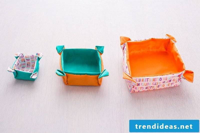 Sew practical bread basket in different sizes!