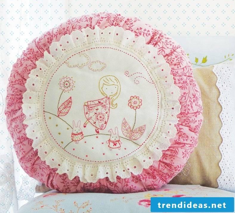 Kisenhülle sew: Decoration ideas for DIY pillowcases!