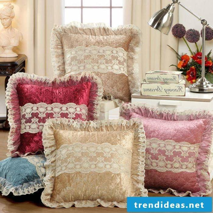 Beautiful cushion cover sewing: Decoration ideas for DIY pillowcases!
