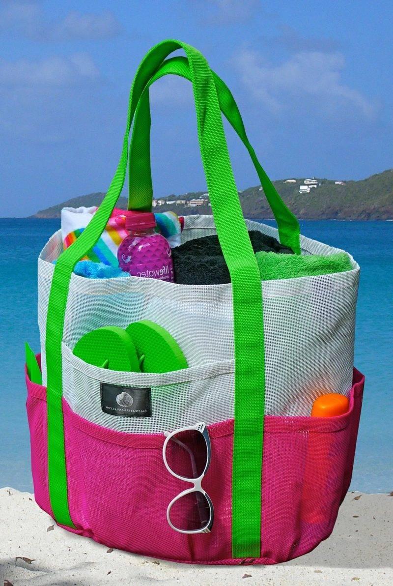 Beach bag sew huge variation in bright colors original look