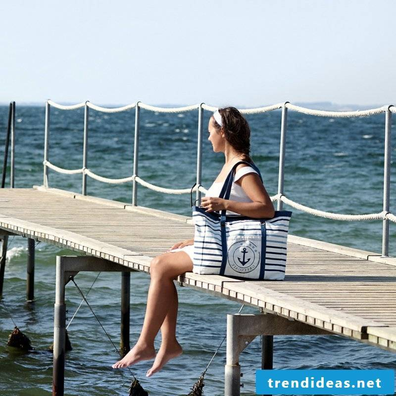 Sewing DIY ideas beach bag