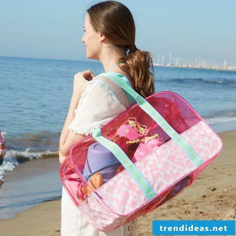 Beach bag sew original ideas for the summer vacation