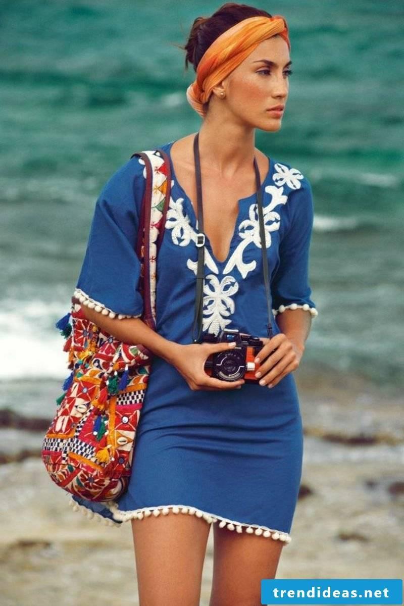 Beach bag sewing DIY instructions