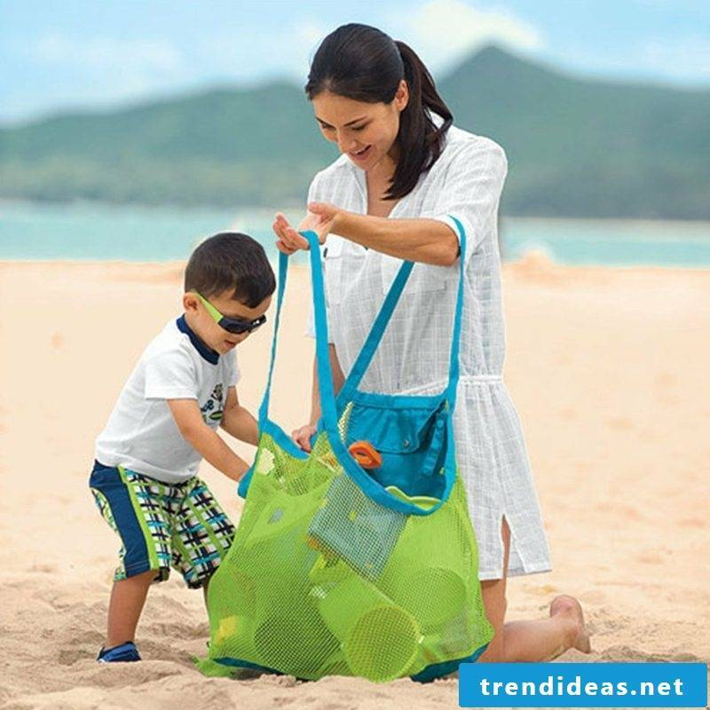 Beach bag sew enough big model also for the children's toys
