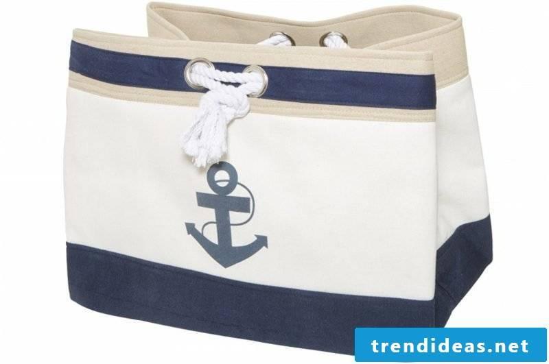 Beach bag stitching anchor navy blue original model