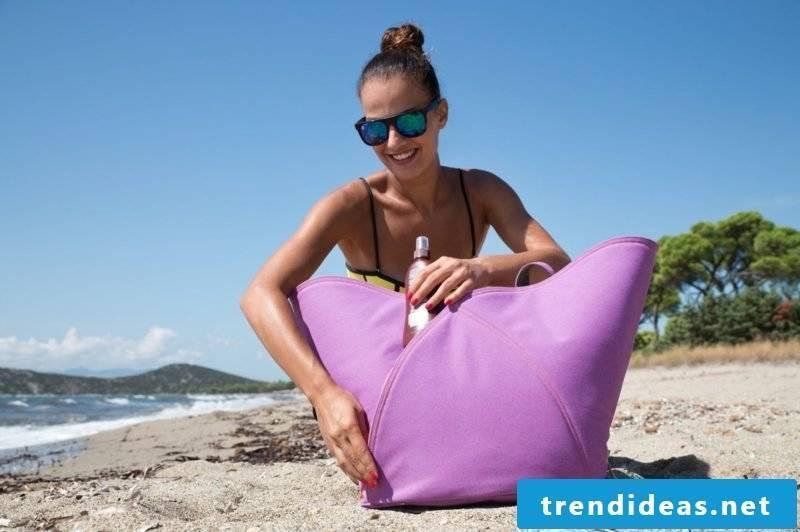 Beach bag sew big variation in purple for women