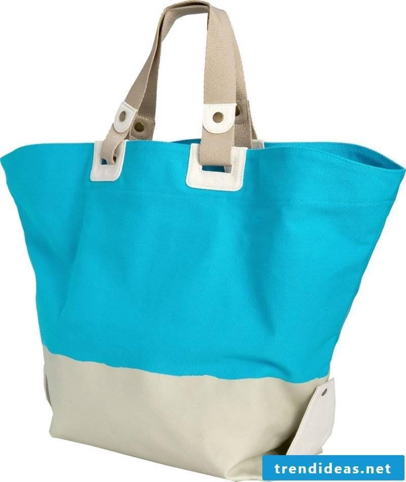 Beach bag sew original variant two-tone