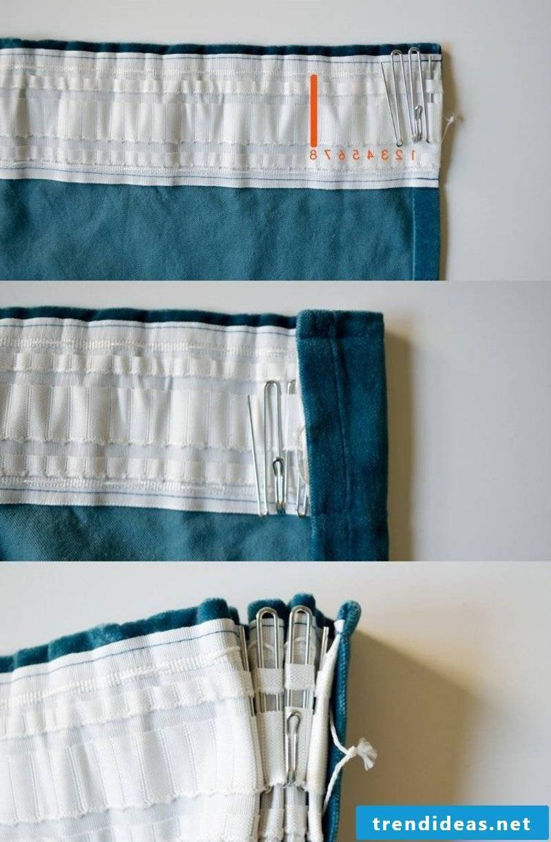 Sewing curtains Making folds