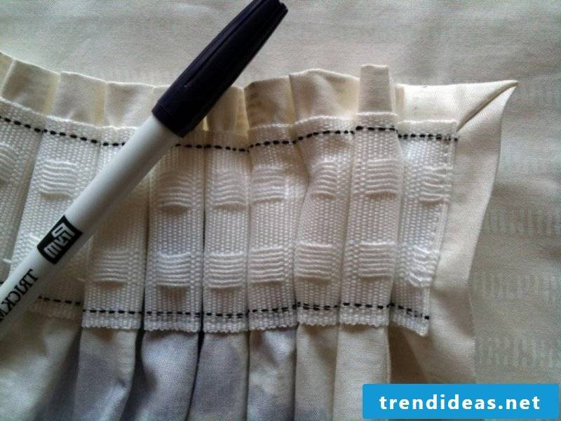 Sew on pleated band curtains