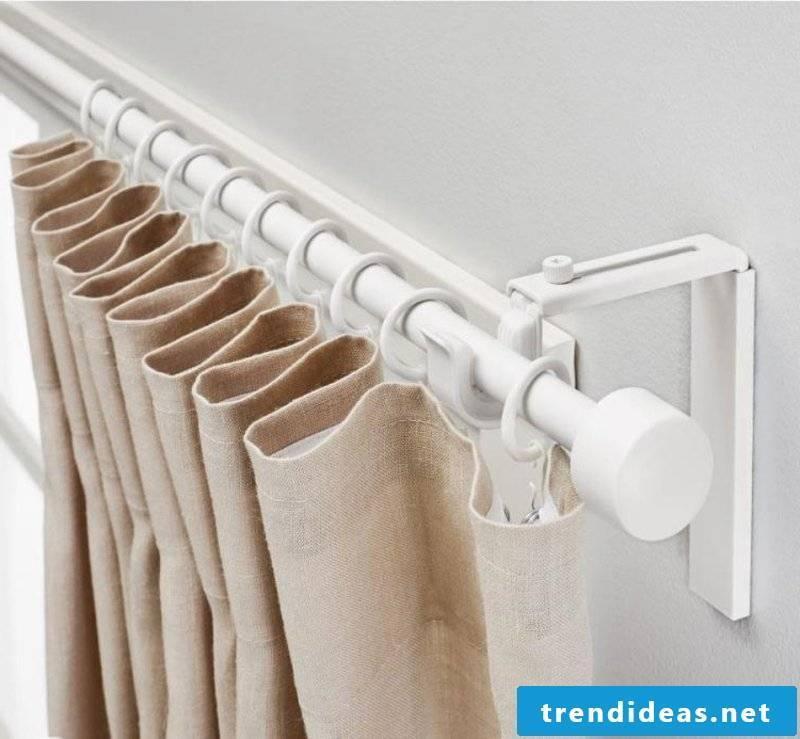 Fastening curtains