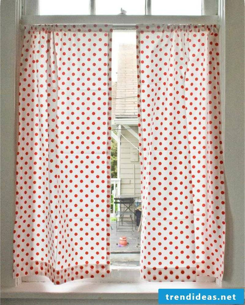 interesting curtains red and white