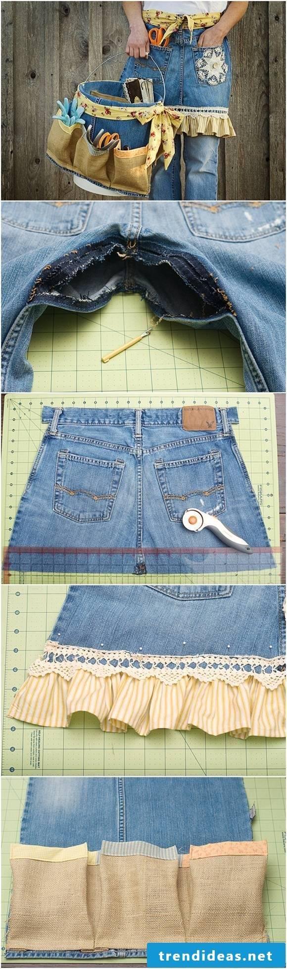 Sew apron