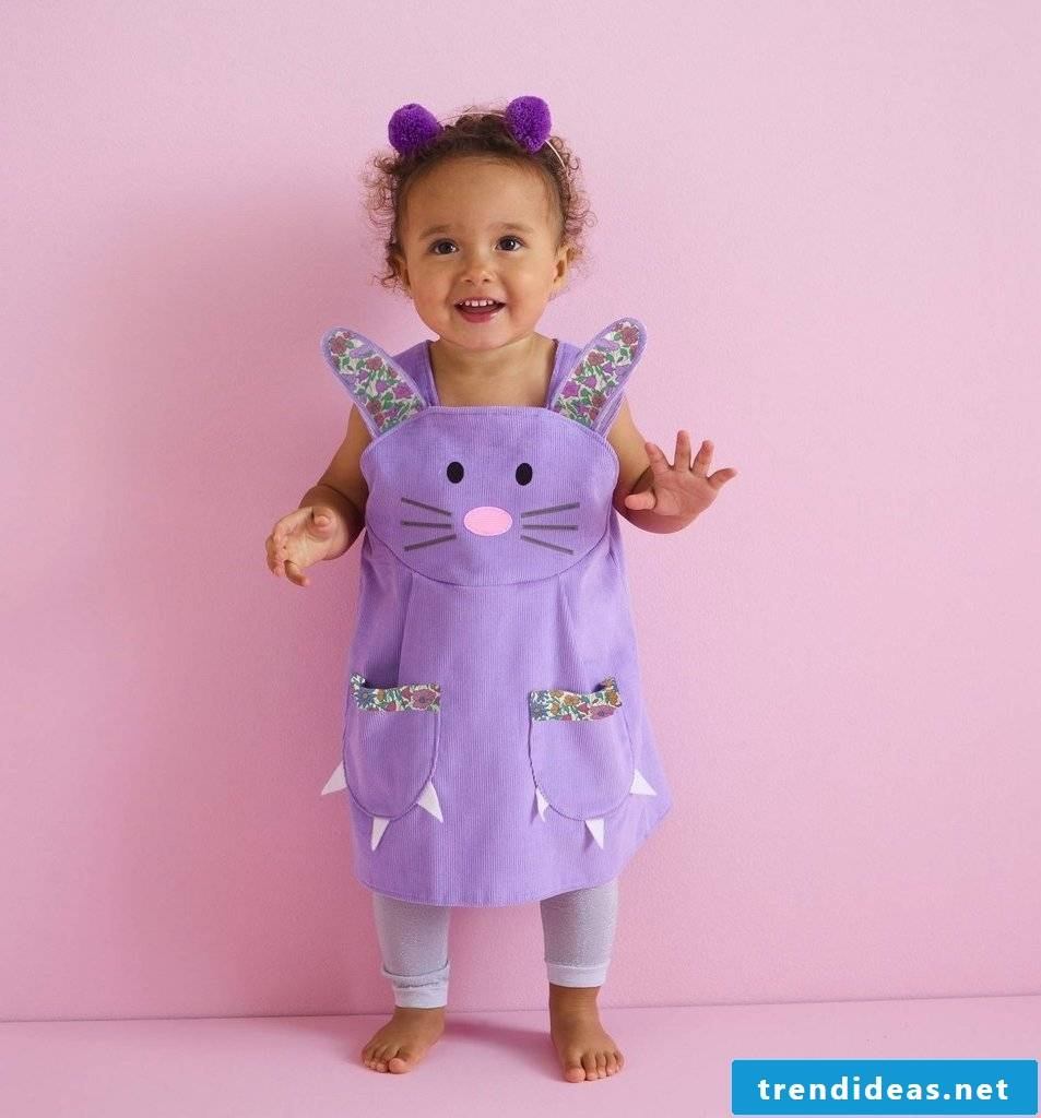 Sewing ideas - funny kids aprons for happy kids