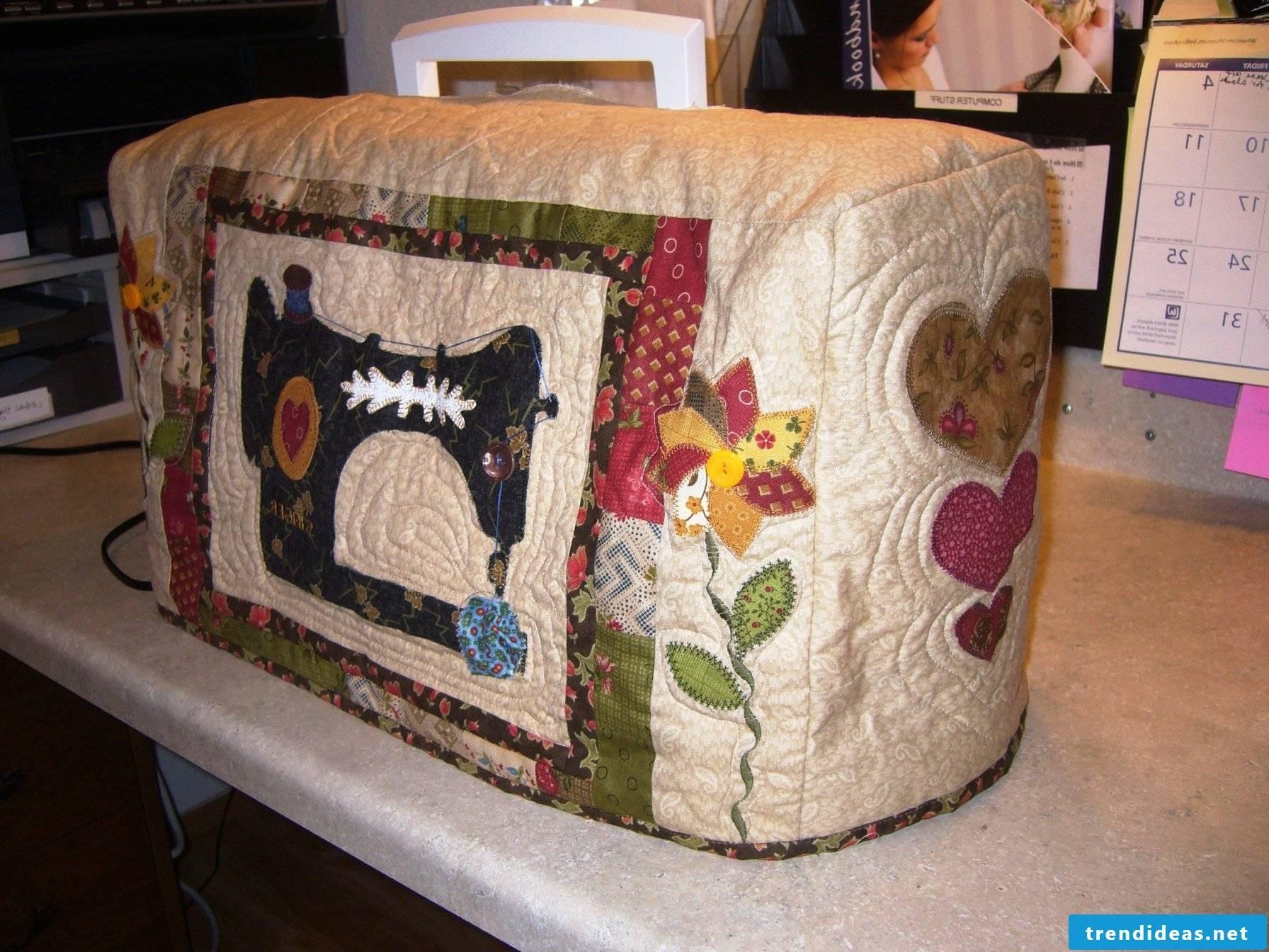 Great self-sewn hood for sewing machine