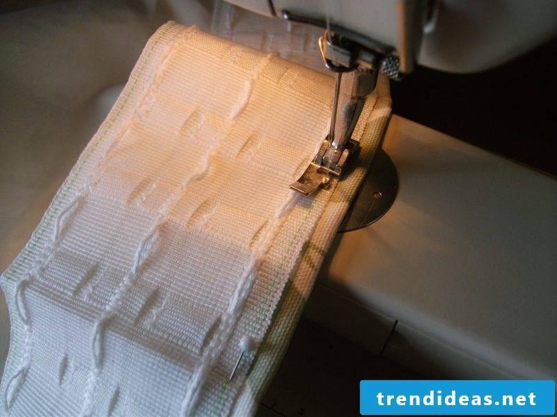 Sew curtain like