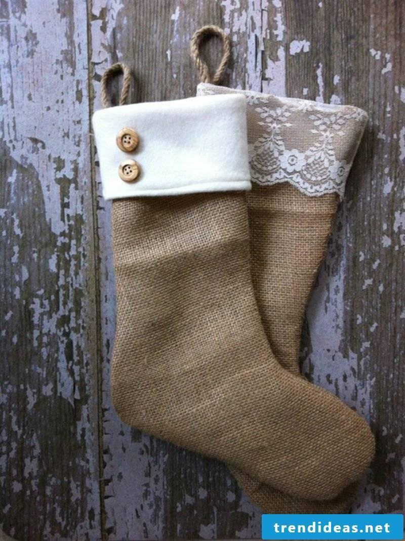 Nikolausstiefel sew Christmas crafts