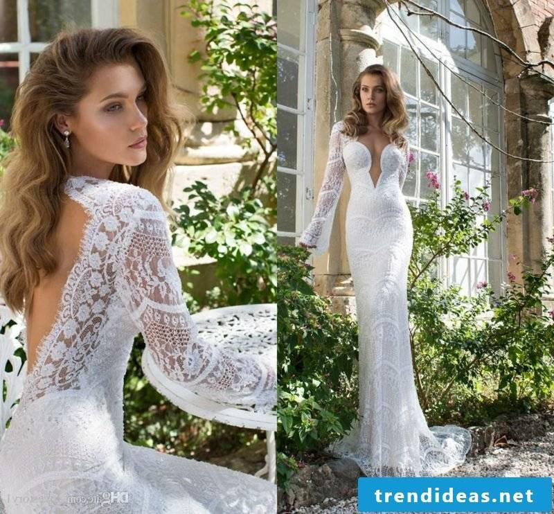 sexy bridal gown long sleeve