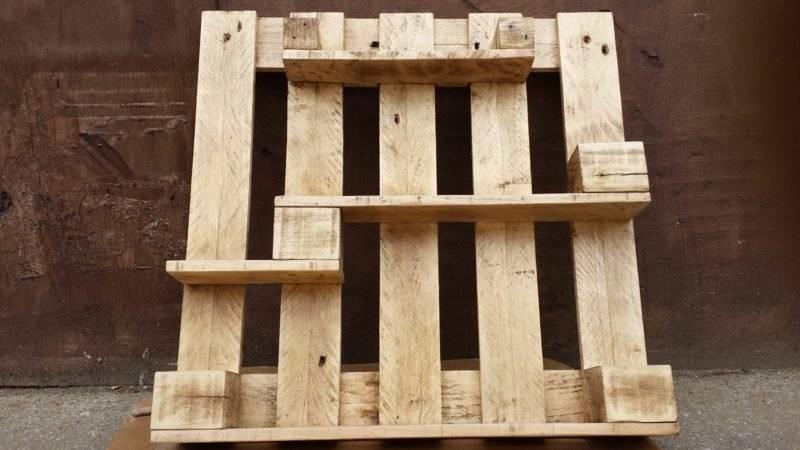Shelf from pallets