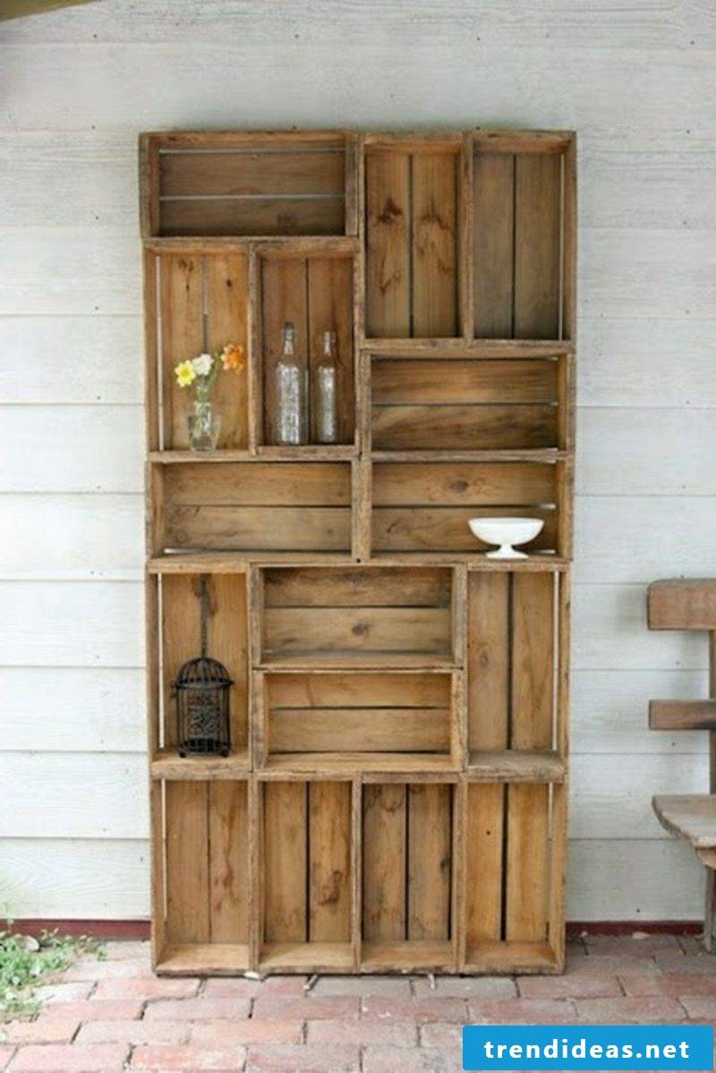 Wine rack made of pallets