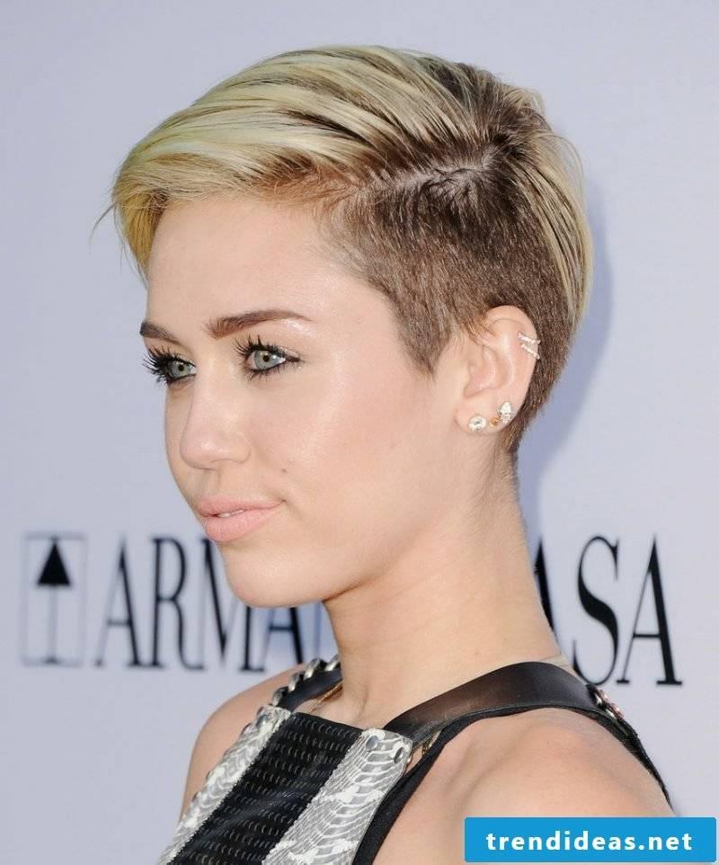 Short Hairstyles Women 2017 Undercut Miley Cyris