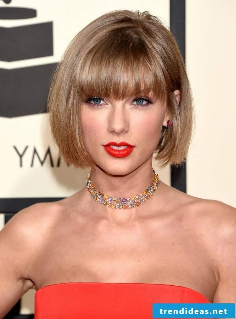 Short Hairstyles Women 2017 Bob Taylor Swift