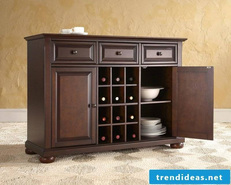 Sideboard build yourself and set up the dining room in country style
