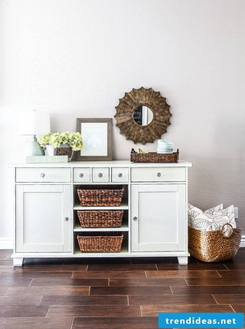 Sideboard differs from the dresser with the vacancies