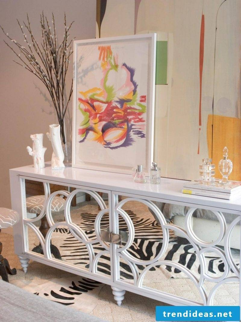 Build sideboard yourself and create a mirror effect