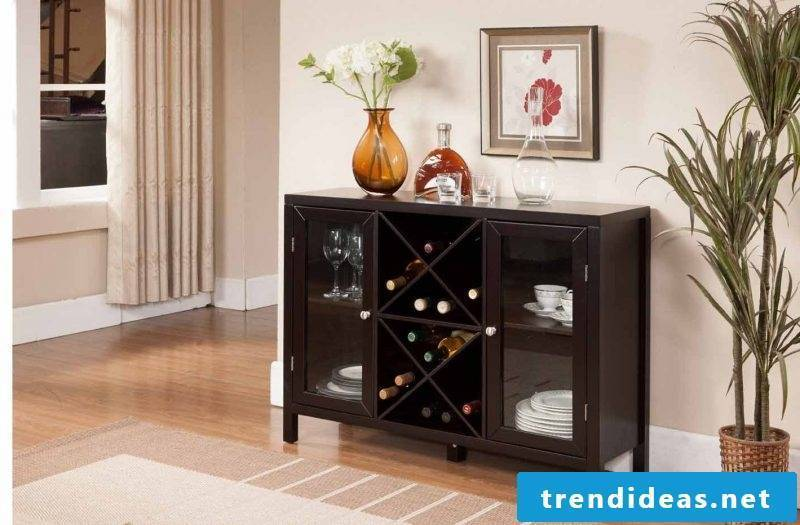 Sideboard build yourself with glass doors