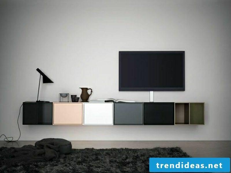 Sideboard hanging interesting color design