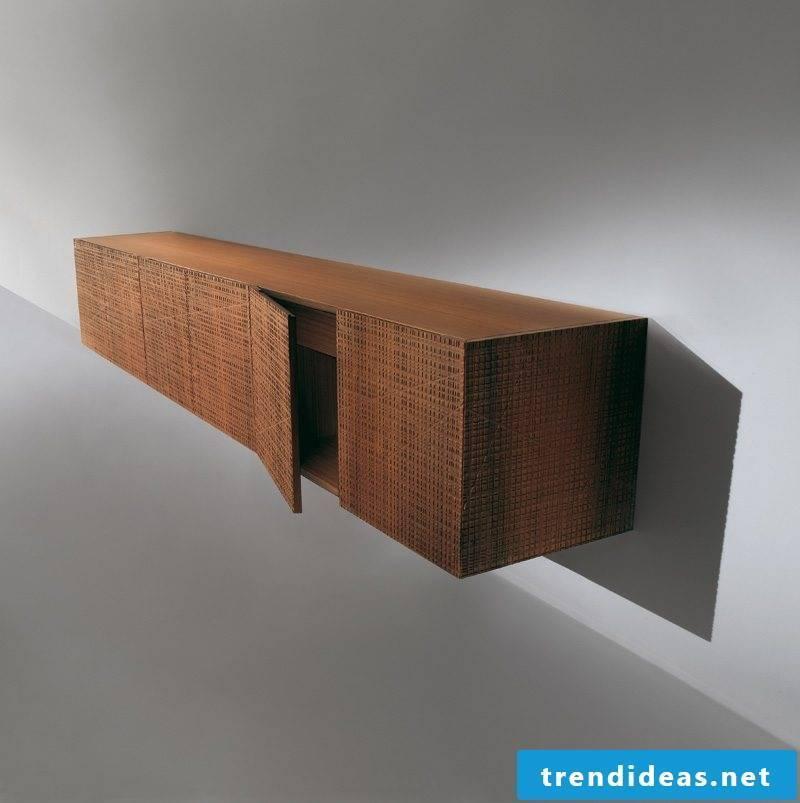 Sideboard hanging wood natural look