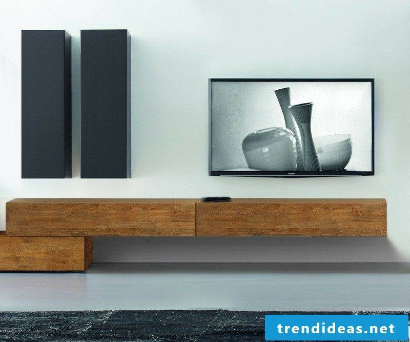 Sideboard hanging from solid wood