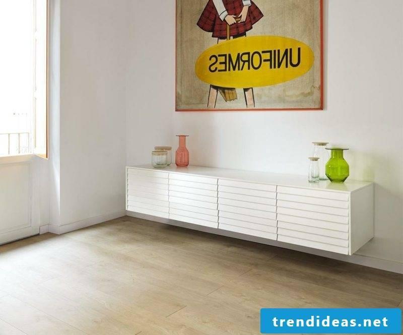 Sideboard hanging white several drawers