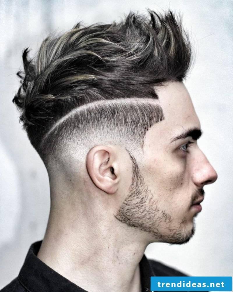 Hairstyles long sidecut men