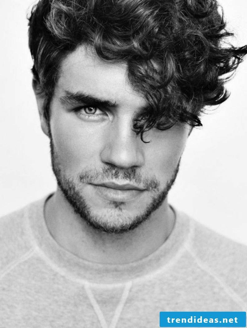 Hairstyles with curls Sidecut man