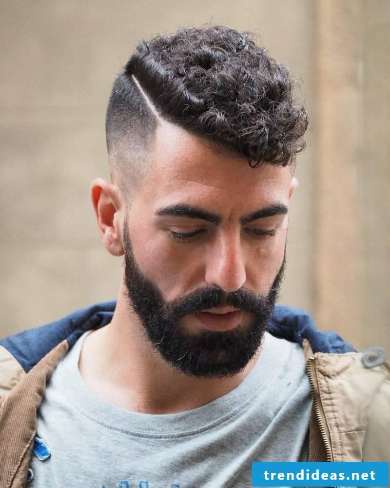 Hairstyles Curls Sidecut Men