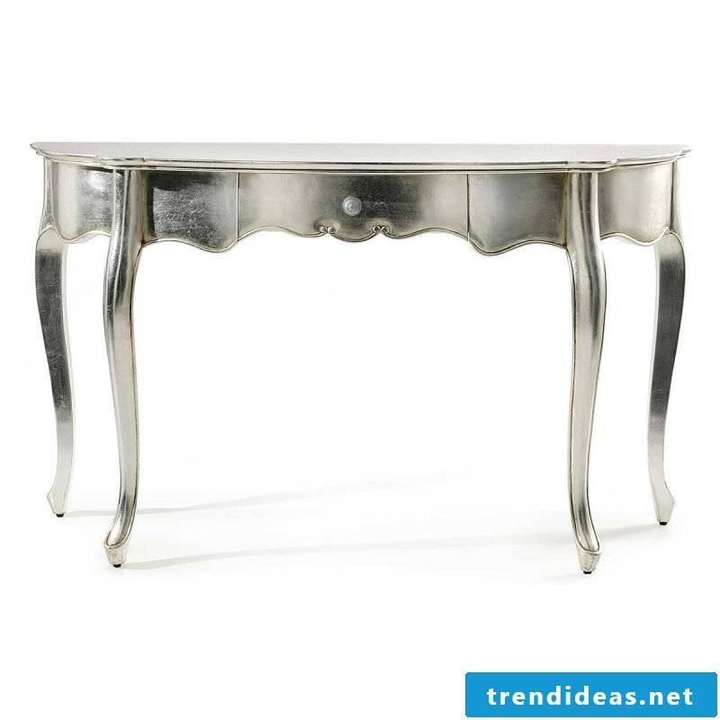 So beautiful silver table.
