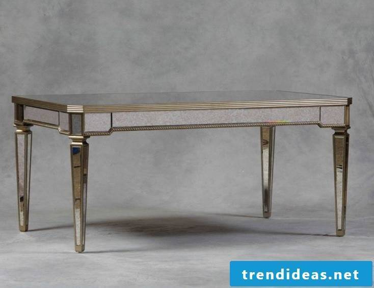 This silver table fascinates.