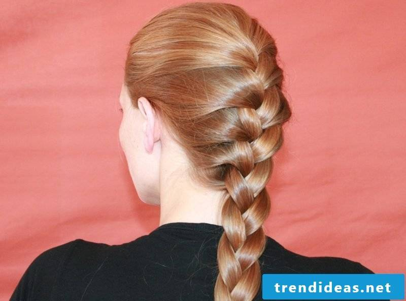 simple updos French braid