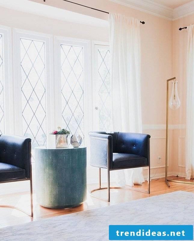 living room ideas ideas side table blue armchair