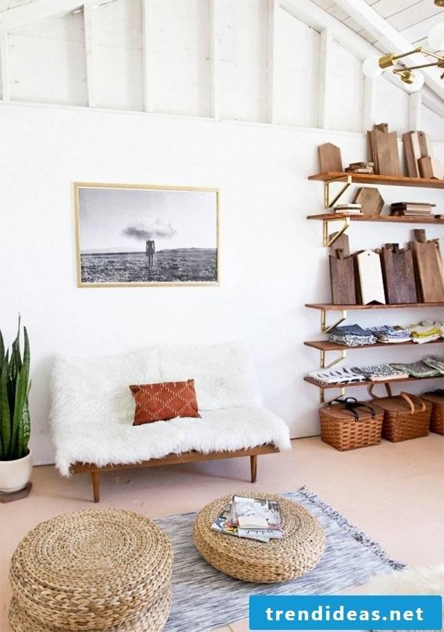 furnishing ideas living room stool sofa white