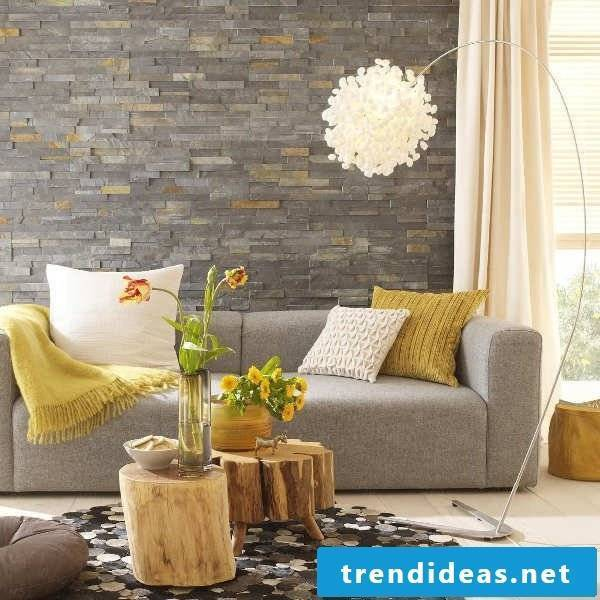 living room ideas ideas table wooden sofa sofa pillow lamp