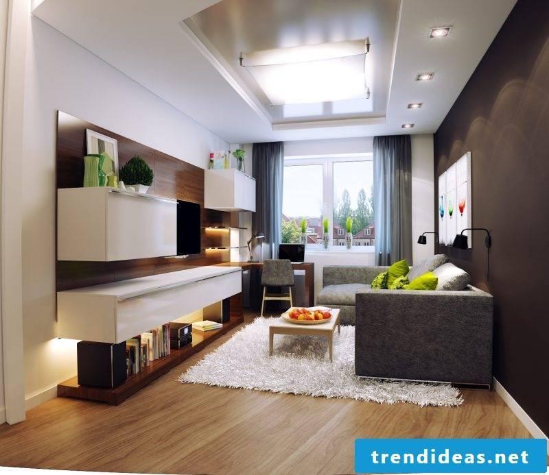 living room decorating ideas modern luxury carpet shelf lighting