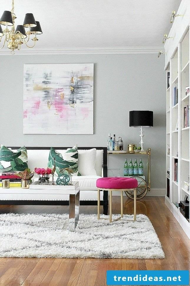 living room decorating living room carpet stool sofa wall
