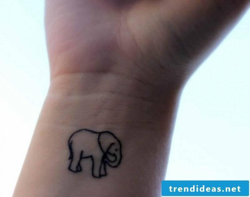 small tattoos motifs elephant wrist