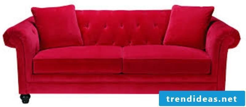 massive sofa in red